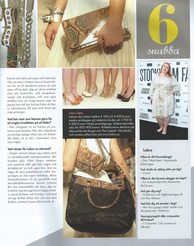 Stockholm Fashion Week Magazine Interview
