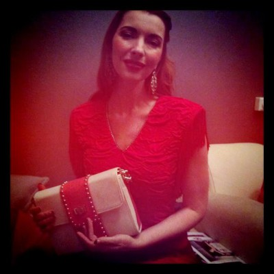 Artist Chrysta Bell with Lollo Shoulderbag